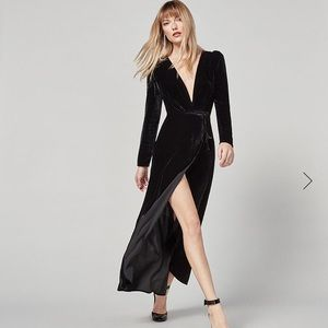 REFORMATION Grenache Dress in Black Velvet